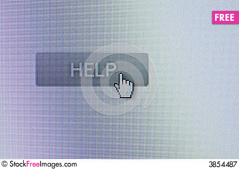 Free Help Button Royalty Free Stock Photography - 3854487