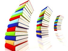 Free 3d Colored Books Massive For Design Stock Photos - 3850493