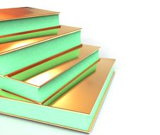 Free 3d Colored Books Massive For Design Stock Photos - 3850653