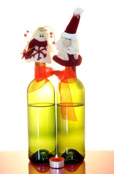 Free Two Wine Bottles Stock Photography - 3850842