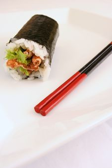 Free Soft Shell Crab Sushi Stock Photo - 3850960