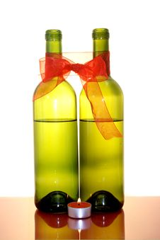 Free Two Wine Bottles Stock Image - 3851021