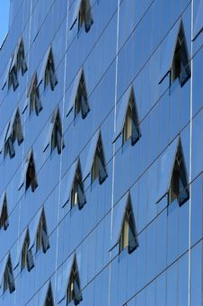 Modern Skyscraper Window Reflections Stock Photography