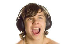 Free The Teenager In Ear-phones Royalty Free Stock Image - 3852176