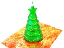 Free New-year Candle Fir-tree Royalty Free Stock Photo - 3852505