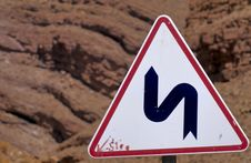 Free Moroccan Road Sign No.1 Stock Photography - 3852602