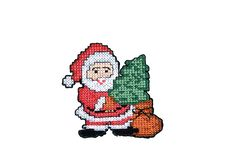 Santa Claus Embroidery Royalty Free Stock Photos