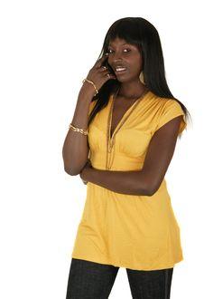 Free Girl In Yellow Fashion Dress Stock Photos - 3852953