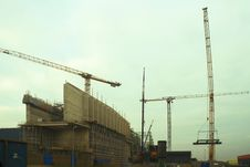 Free Cranes At Work Stock Photo - 3853920