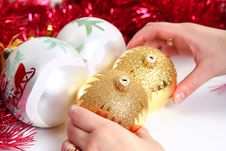Festive Star In Hand Royalty Free Stock Images