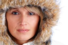 Free Hooded Woman Stock Photography - 3854702