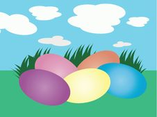 Easter Eggs Greeting Card Royalty Free Stock Photos