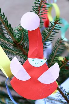 Christmas Ornaments - Paper Santa Claus Royalty Free Stock Images