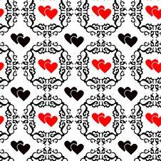 Free Seamless Valentine Wallpaper Royalty Free Stock Image - 3856606