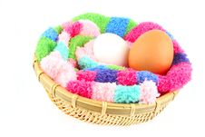 Free Fluffy Clutch For Two Eggs Royalty Free Stock Image - 3856636