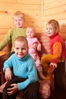 Free Children In Wood House Stock Photography - 3857522
