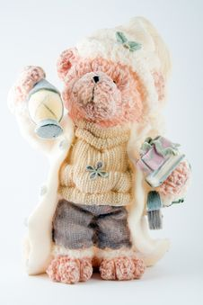 Free Christmas Bear Royalty Free Stock Photo - 3857885