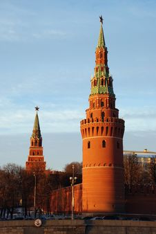 Free Moscow Kremlin Tower. Stock Image - 3857941