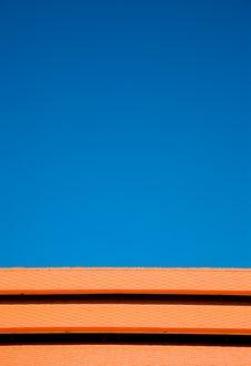 Free Blue Sky Orange Tiles Stock Images - 3858114
