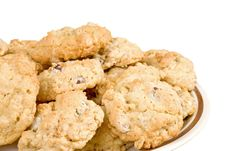 Free Oatmeal Chocolate Chip Cookie Isolated Royalty Free Stock Images - 3858229