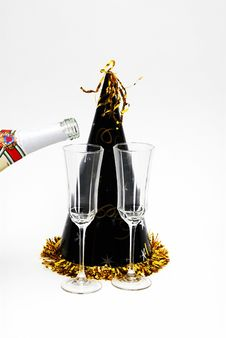Free New Years Party Royalty Free Stock Photo - 3858435