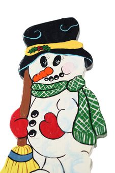 Free Wooden Snow Man Royalty Free Stock Images - 3858539