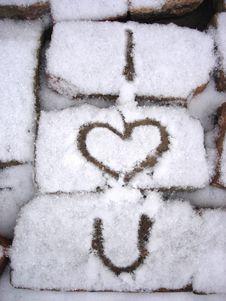 Bricks And Snow Stock Photo