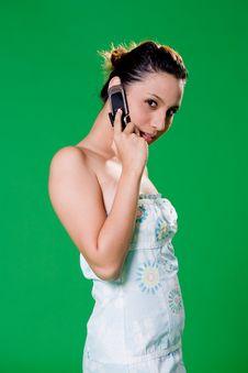 Free Beautiful Girl On The Phone Stock Photo - 3859090