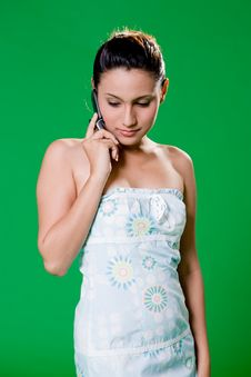 Free Beautiful Girl On The Phone Stock Photography - 3859092