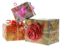 Free Gift With With An Ornament In The Form Of A Rose Stock Photos - 3859153