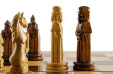 Opposition Two Chess King Stock Photography
