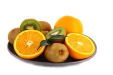 Free Kiwis And Orange Royalty Free Stock Image - 3859306