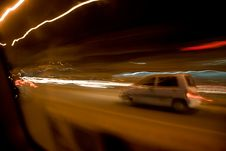 Free Panning Motions Streaking Lights Royalty Free Stock Photography - 3859497
