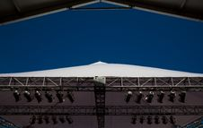 Free Stage Lights And Canopy Stock Image - 3859561