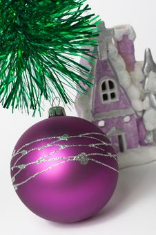 Free Fur-tree Toy And Church Royalty Free Stock Photo - 3859595