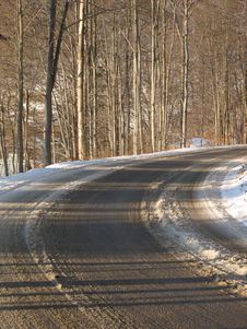Free Road In The Winter Royalty Free Stock Image - 3859606