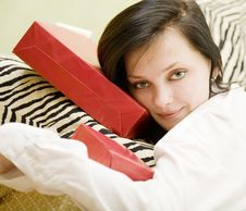 Free Girl With Gifts Stock Image - 3859901