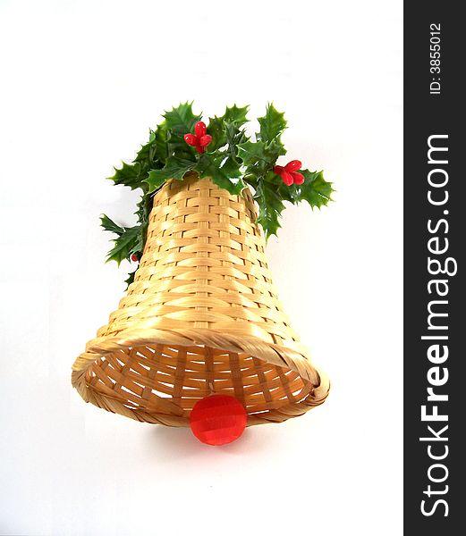 Straw decorative Bell