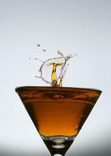 Free Splashing Water Drop On Glass Stock Image - 38563081