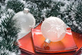 Free Christmas Balls In Plate Royalty Free Stock Images - 3862969