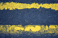 Free Road Markings (Double Yellow Lines) Stock Image - 3865651