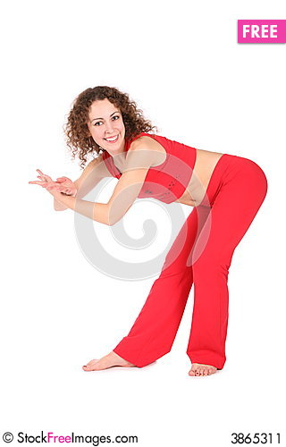Free Yoga Exercise In Dance Stock Image - 3865311