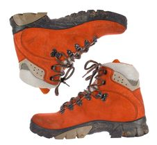 Free Pair Of Red Trekking Boots Royalty Free Stock Photography - 3860017