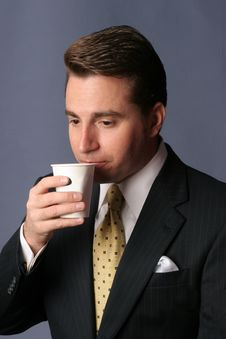 Free Businessman With Cup Of Coffee Stock Photography - 3860242