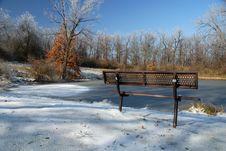 Free Frozen Park Royalty Free Stock Photo - 3860715
