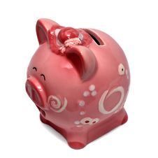 Free Piggy Bank Isolated On White Royalty Free Stock Photography - 3860817