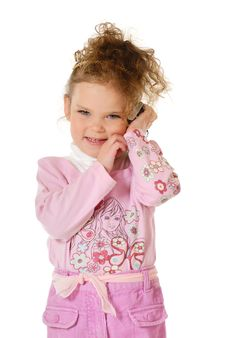 Free The Little Girl Royalty Free Stock Photos - 3860968