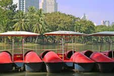 Free Paddleboats In Downtown Park Stock Image - 3861011
