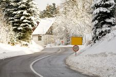 Free Winter Road Stock Photo - 3861460