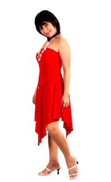 Free Lady In Red Stock Image - 3861731